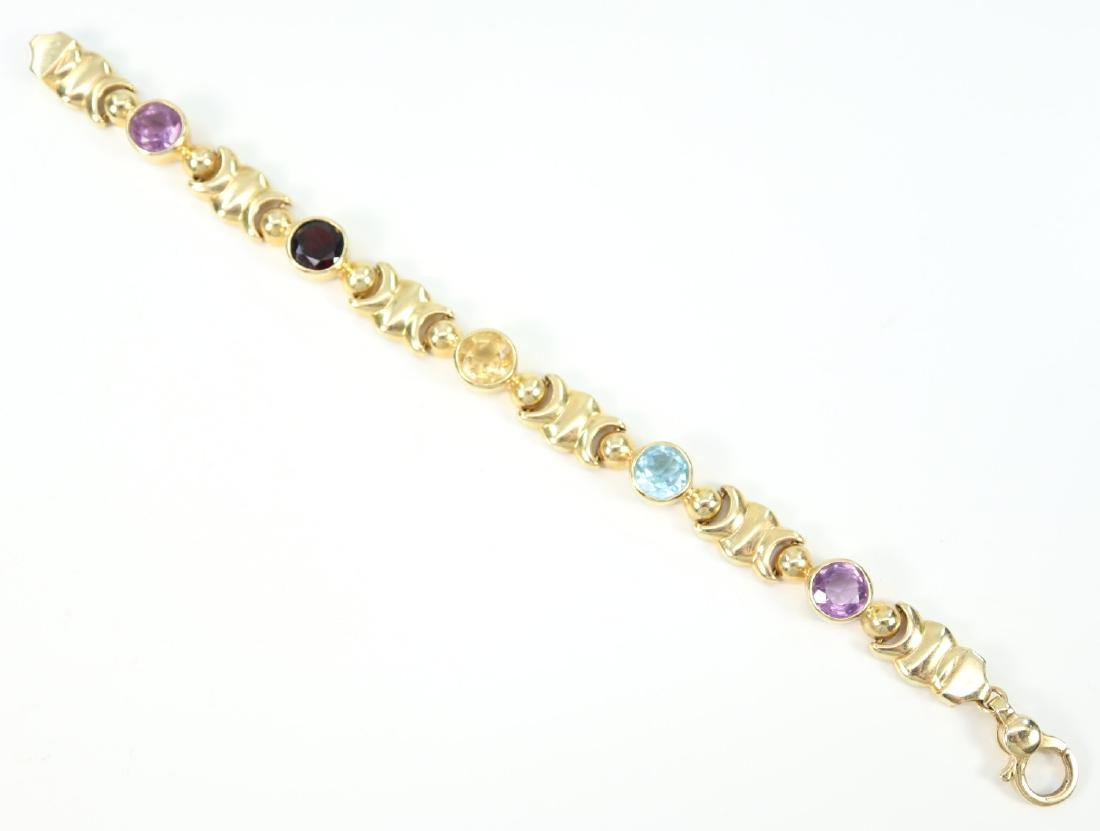 14 kt Yellow Gold & Gemstone Bracelet