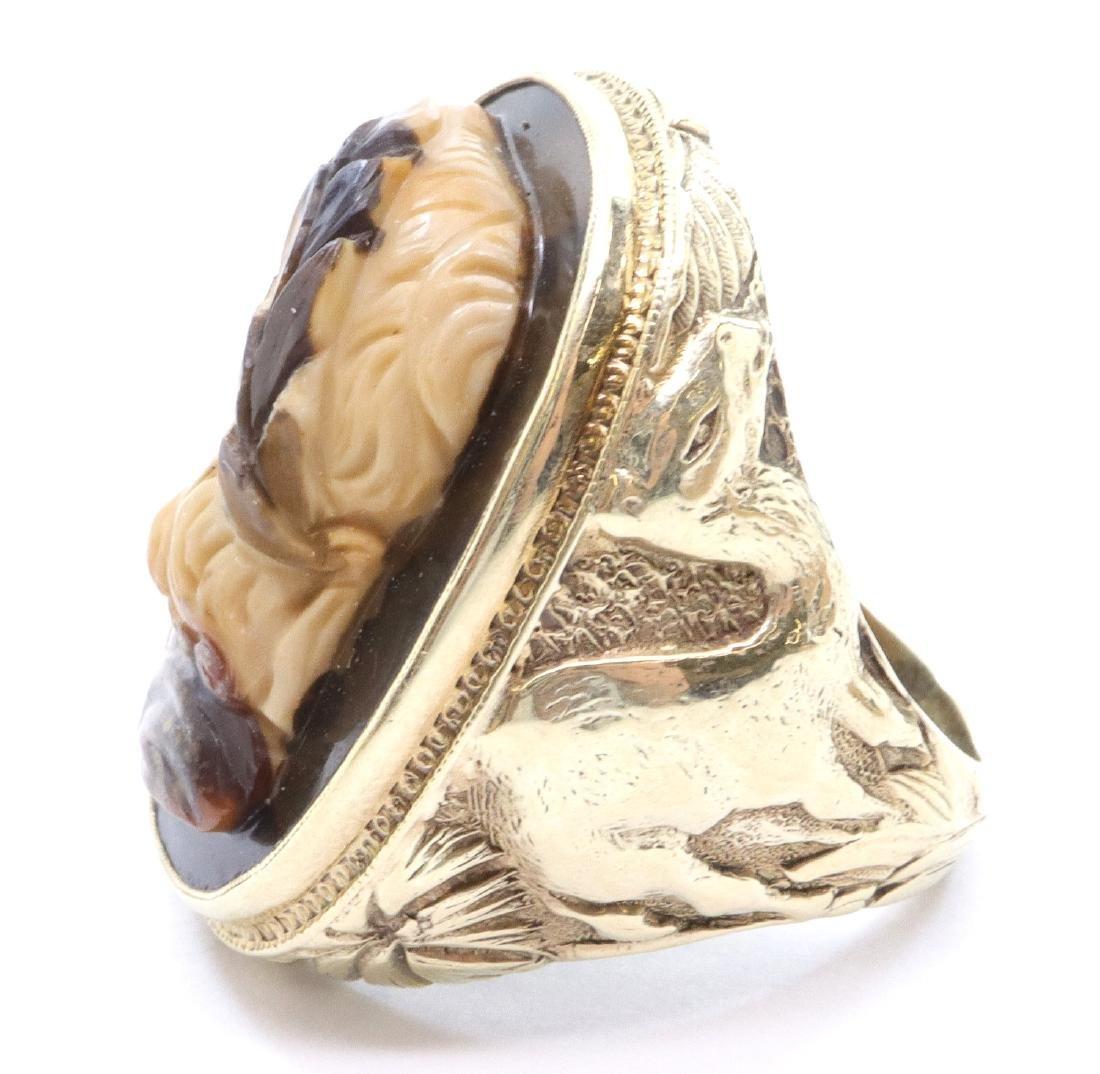 Egyptian Revival Gent's Ring - 2
