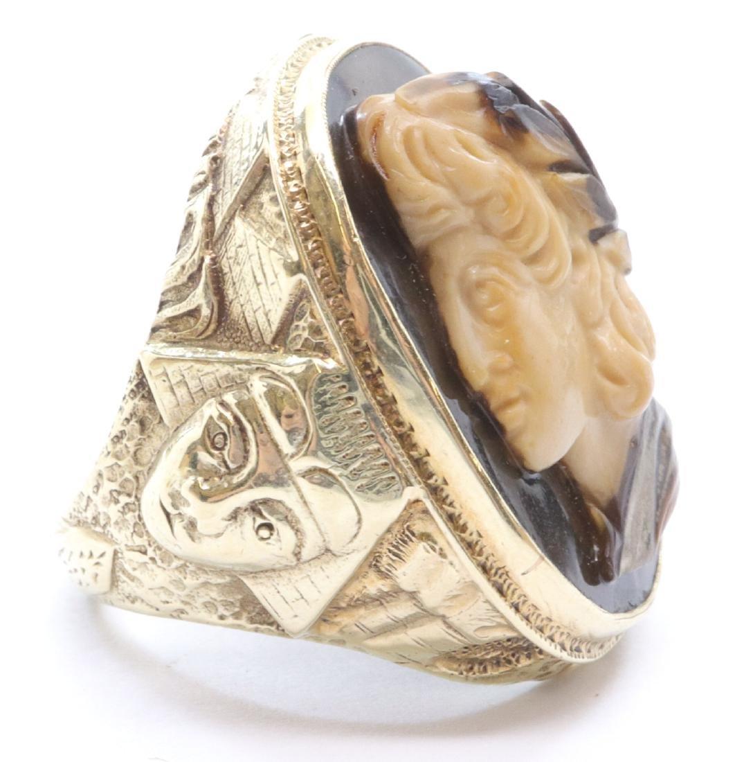 Egyptian Revival Gent's Ring - 3