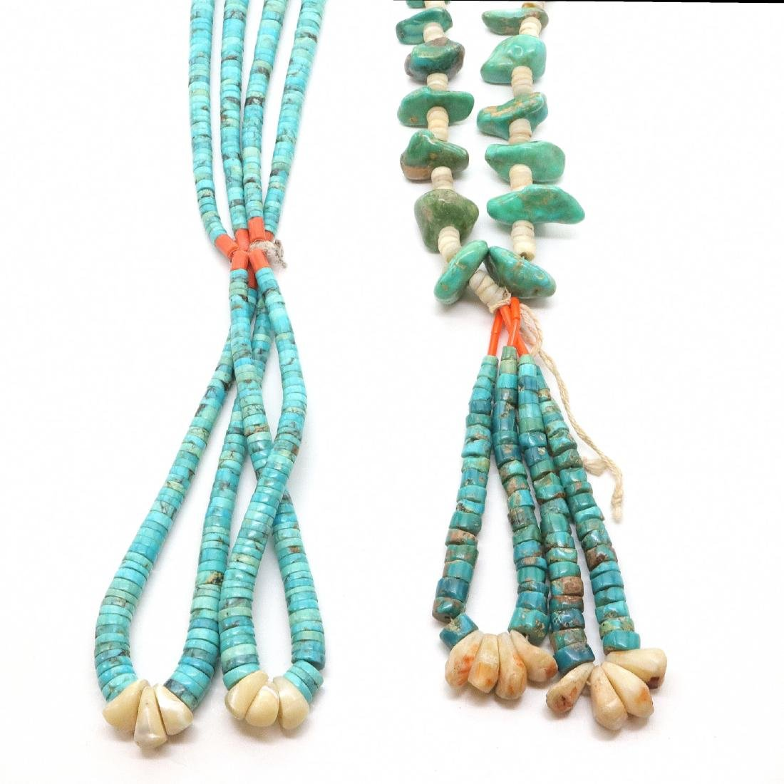 2 American Southwest Beaded Necklaces