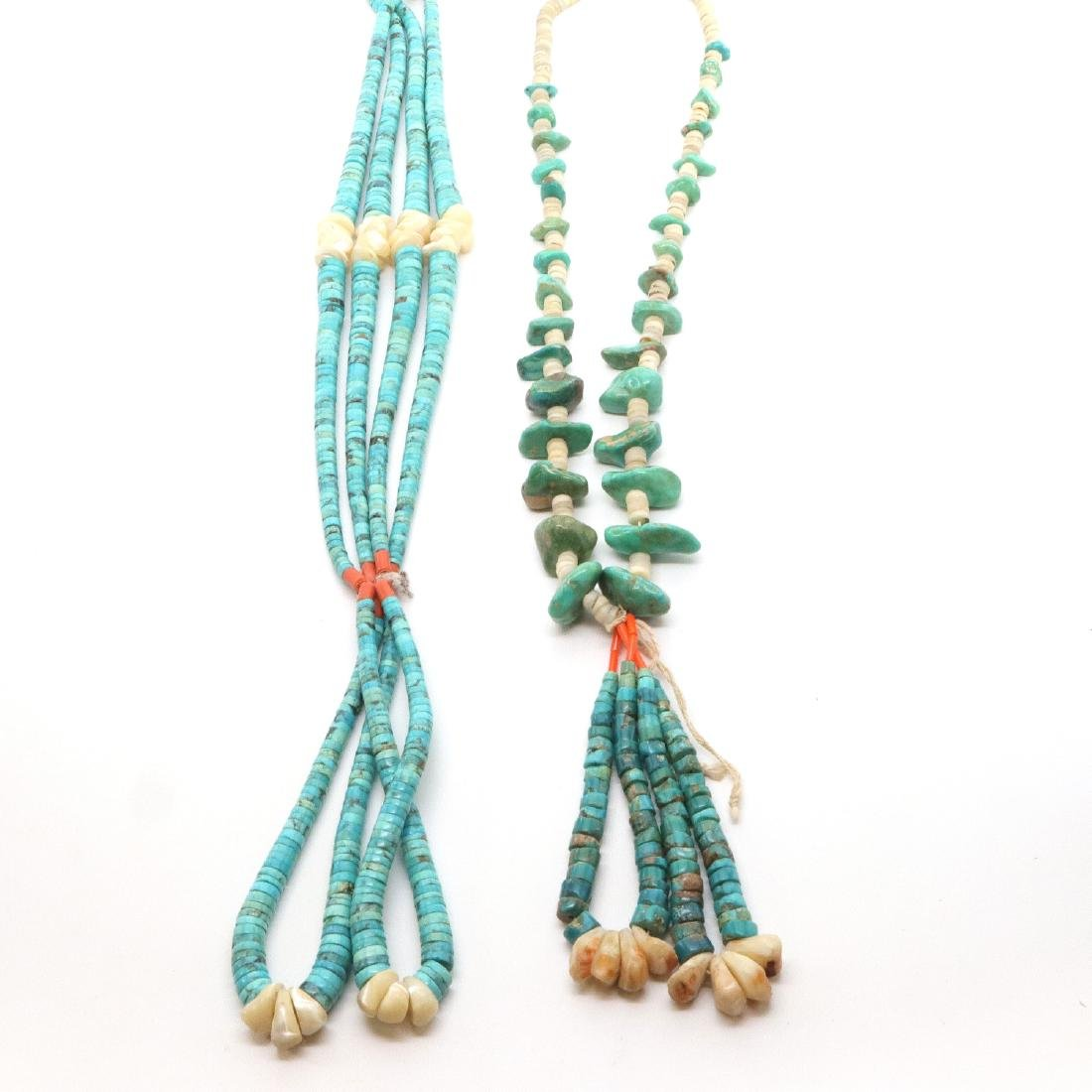 2 American Southwest Beaded Necklaces - 3