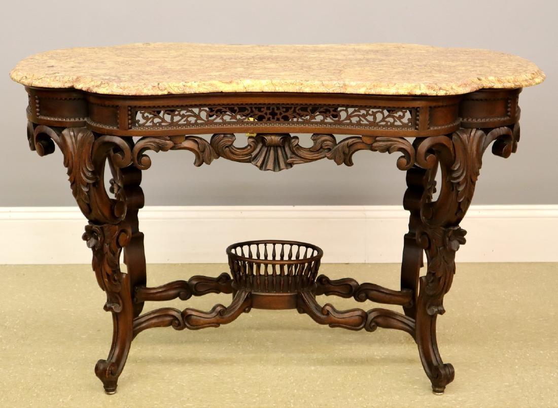 J & J W Meeks Victorian Parlor table