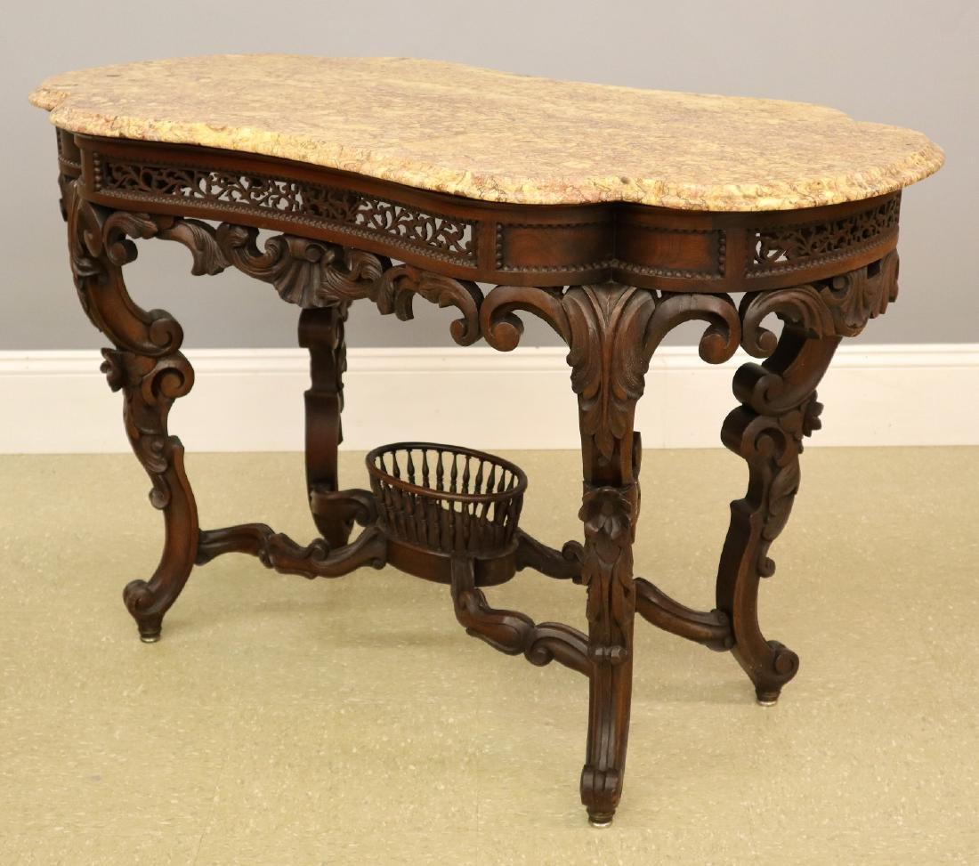 J & J W Meeks Victorian Parlor table - 2