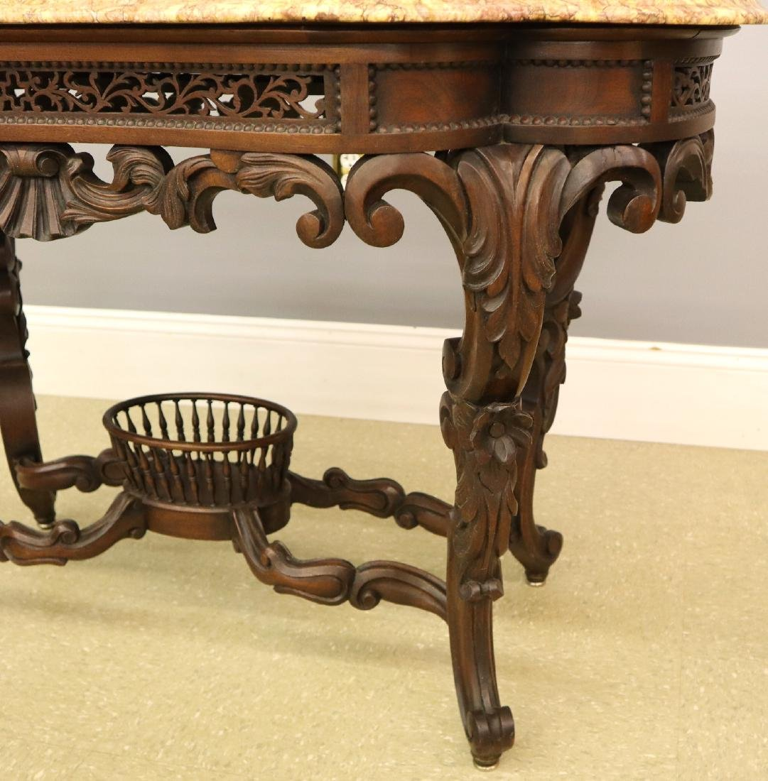 J & J W Meeks Victorian Parlor table - 4