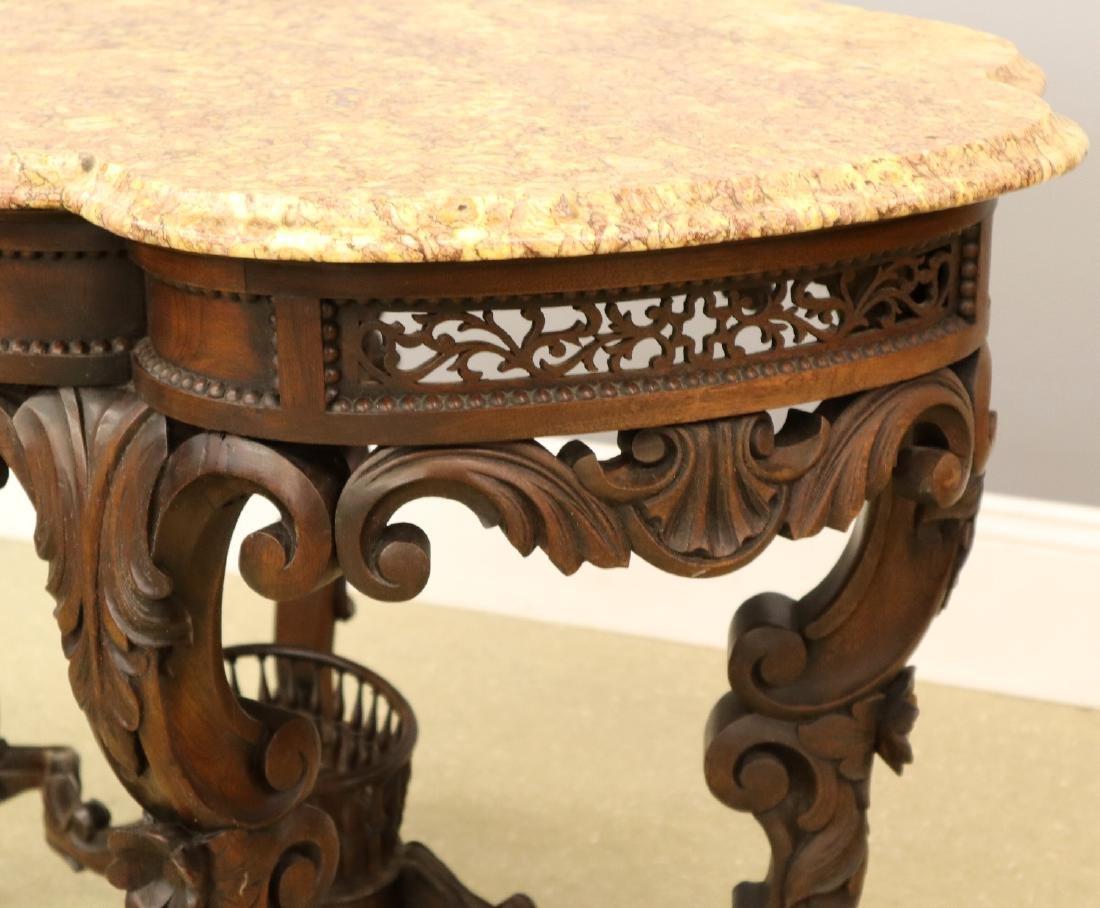 J & J W Meeks Victorian Parlor table - 5
