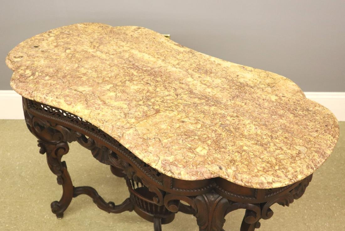 J & J W Meeks Victorian Parlor table - 6
