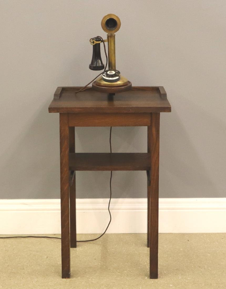 Arts & Crafts Telephone Stand