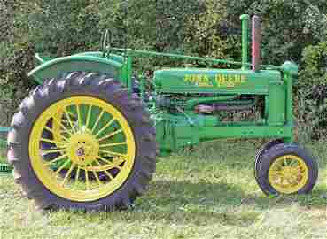 1937 John Deere Model B Tractor with plow