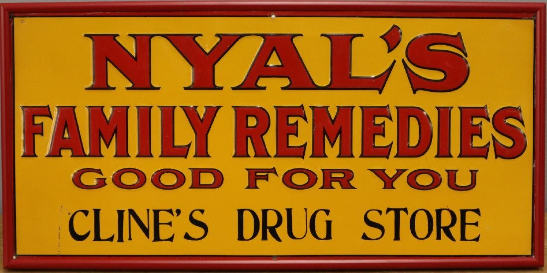 Nyal's Embossed Tin Advertising Sign