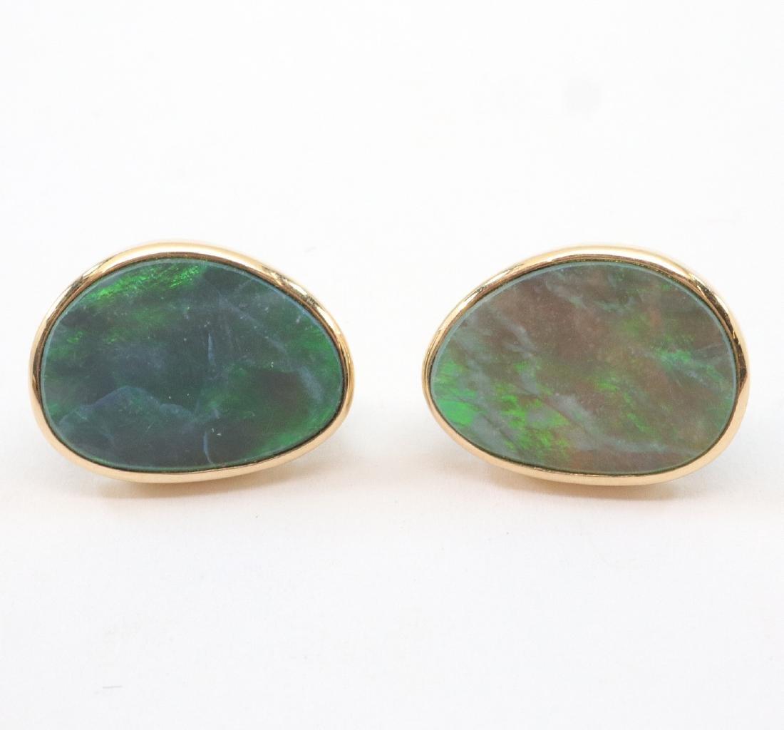 Pair of Boulder Opal Earrings