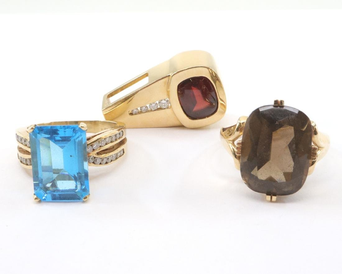 2 Rings & 1 Pendant with Gemstones