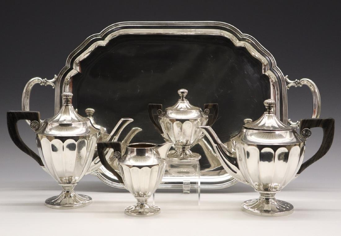 .800 Silver Coffee & Tea Set, 5 pcs