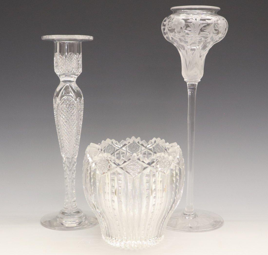 3 pcs American Cut Glass