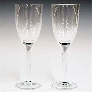 Pr. Lalique Crystal Flutes