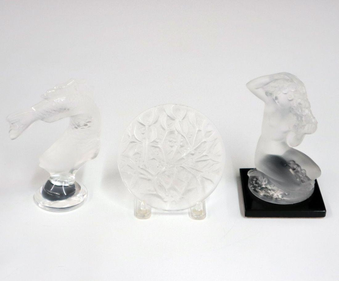 3 pcs of Lalique Crystal