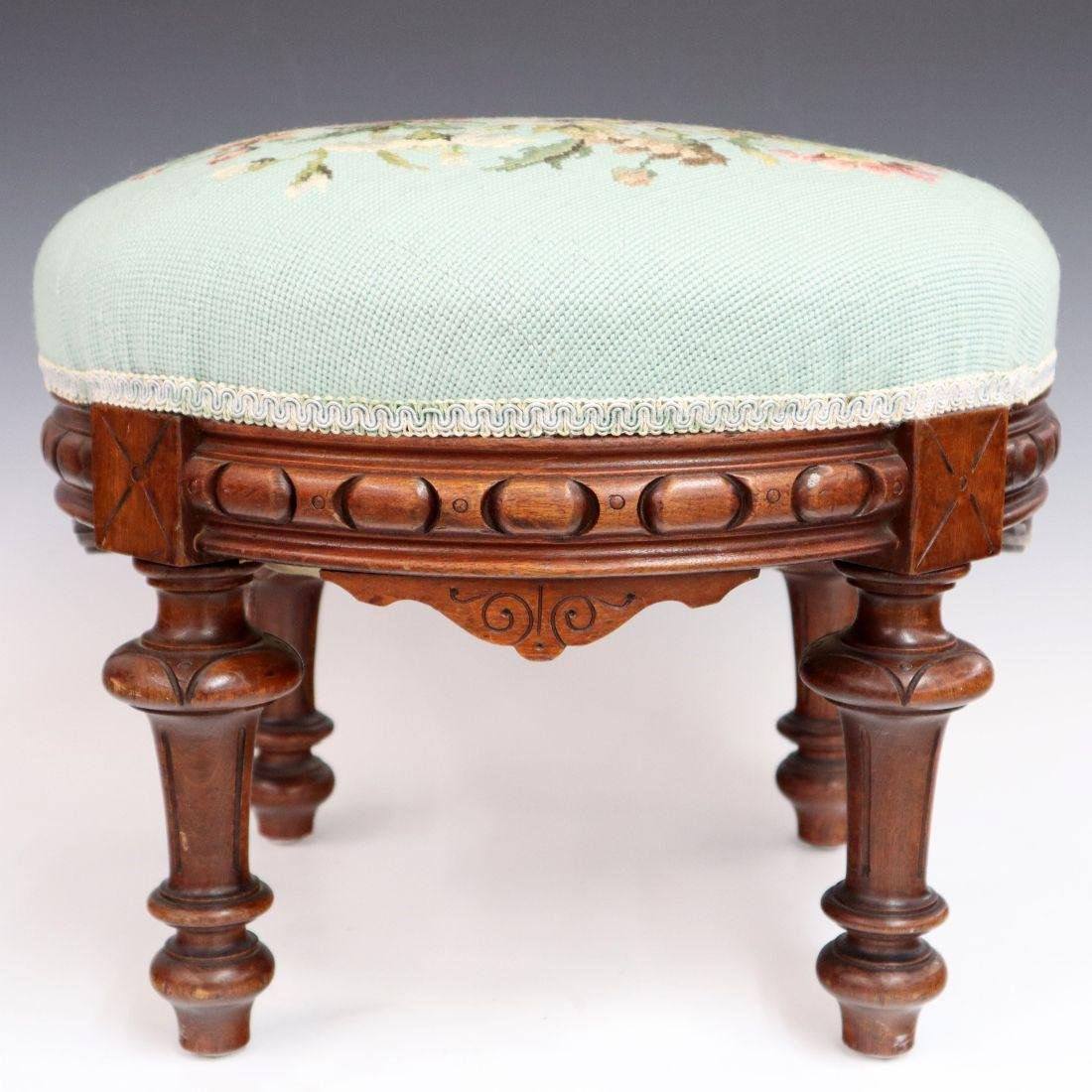 Victorian Walnut Footstool
