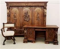 1920's Italian 3 pc Office Set
