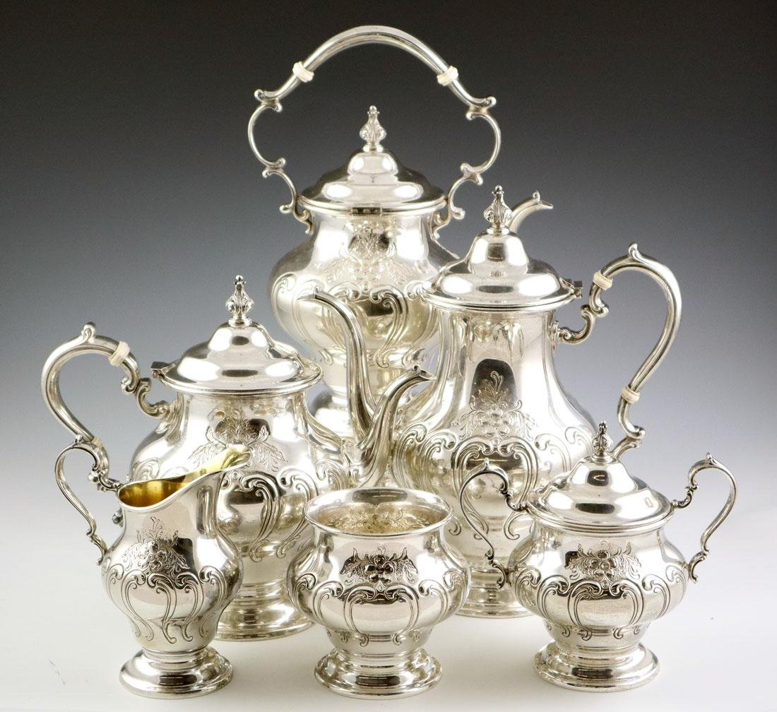 6 pcs Gorham Sterling Coffee & Tea Set