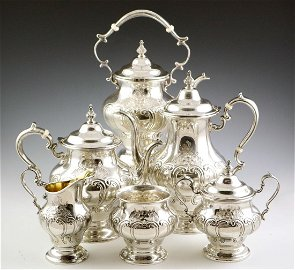 6 pcs Gorham Sterling Coffee & Tea Set