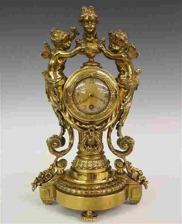 Lenzkirch Brass Figural clock