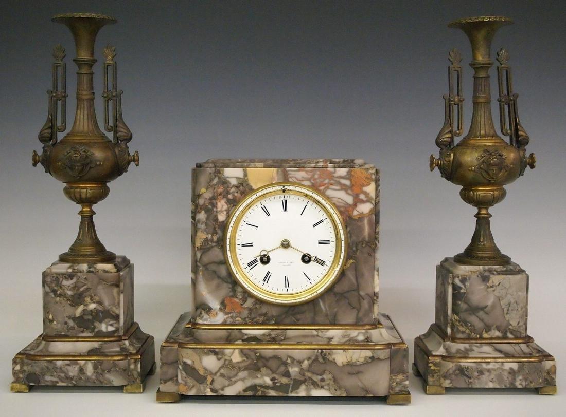 Tiffany & Co. 3-pc Clock set