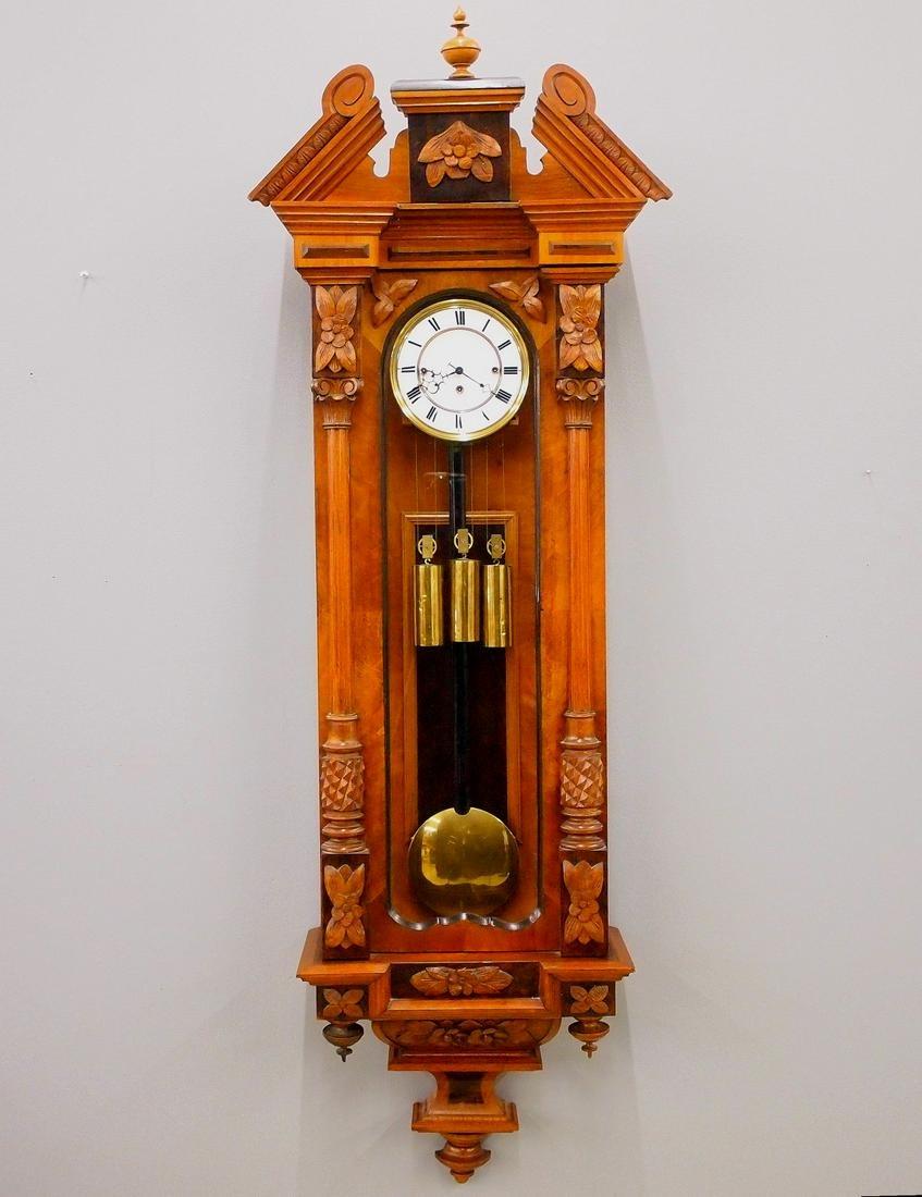 3 wt Vienna Regulator Wall Clock