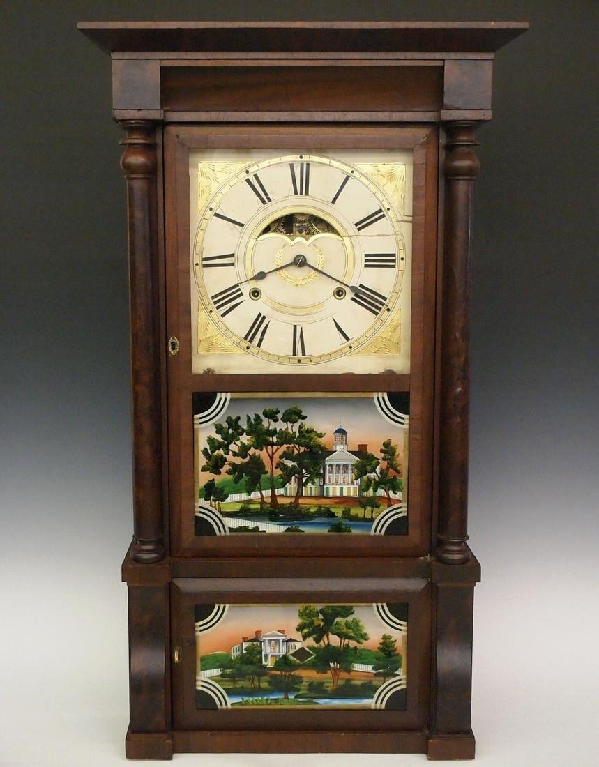 Birge & Mallory Double decker shelf clock