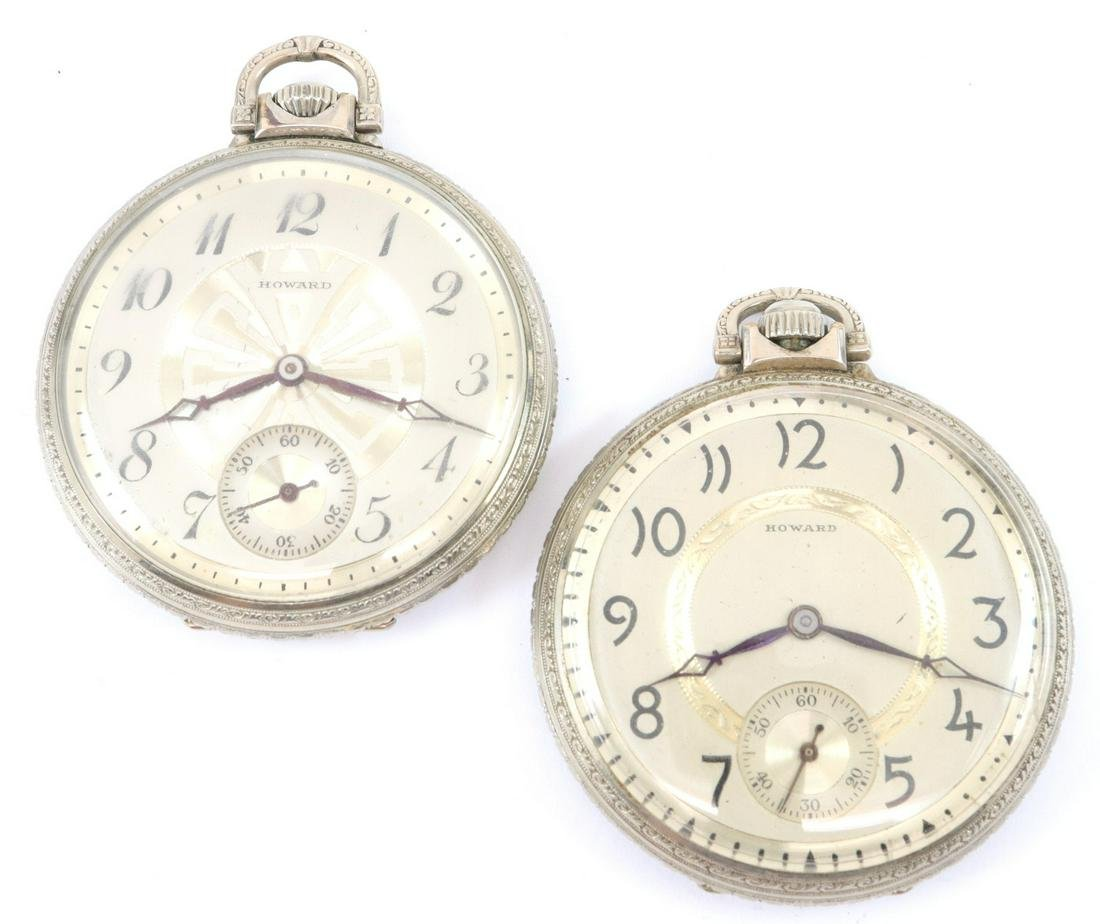 2 E. Howard & Co. pocket watches