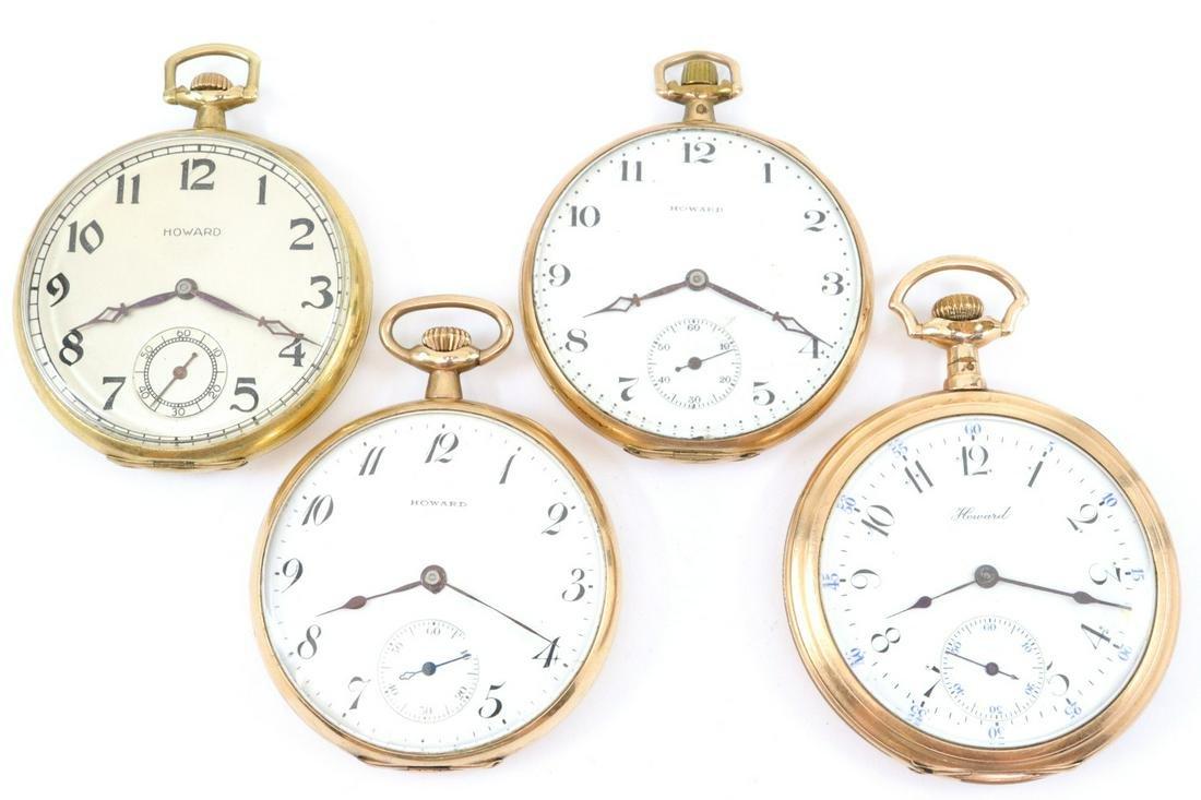 4 E. Howard & Co. pocket watches