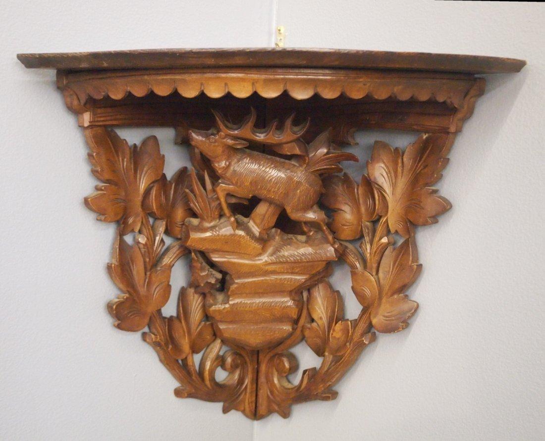 Carved Corner wall bracket