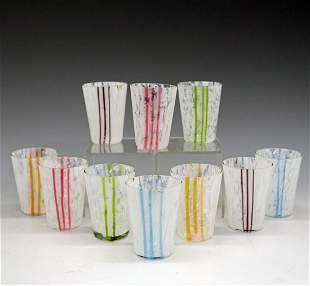 10 Venetian Cordial Glasses
