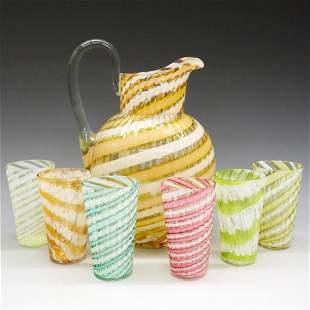 Venetian Glass Assembled Drink Set
