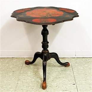 Queen Anne Style Lamp Table