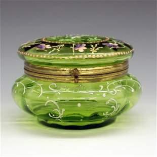 Moser Glass Powder Jar