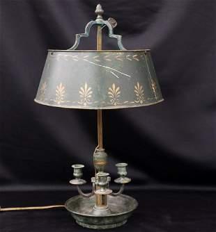 French Bronze Bouillotte Lamp