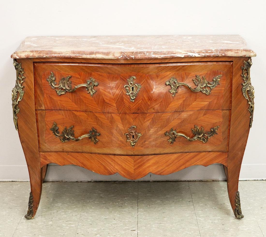Louis XV Style French Bombe Commode