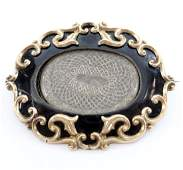 19th C. Mourning Pendant/Brooch