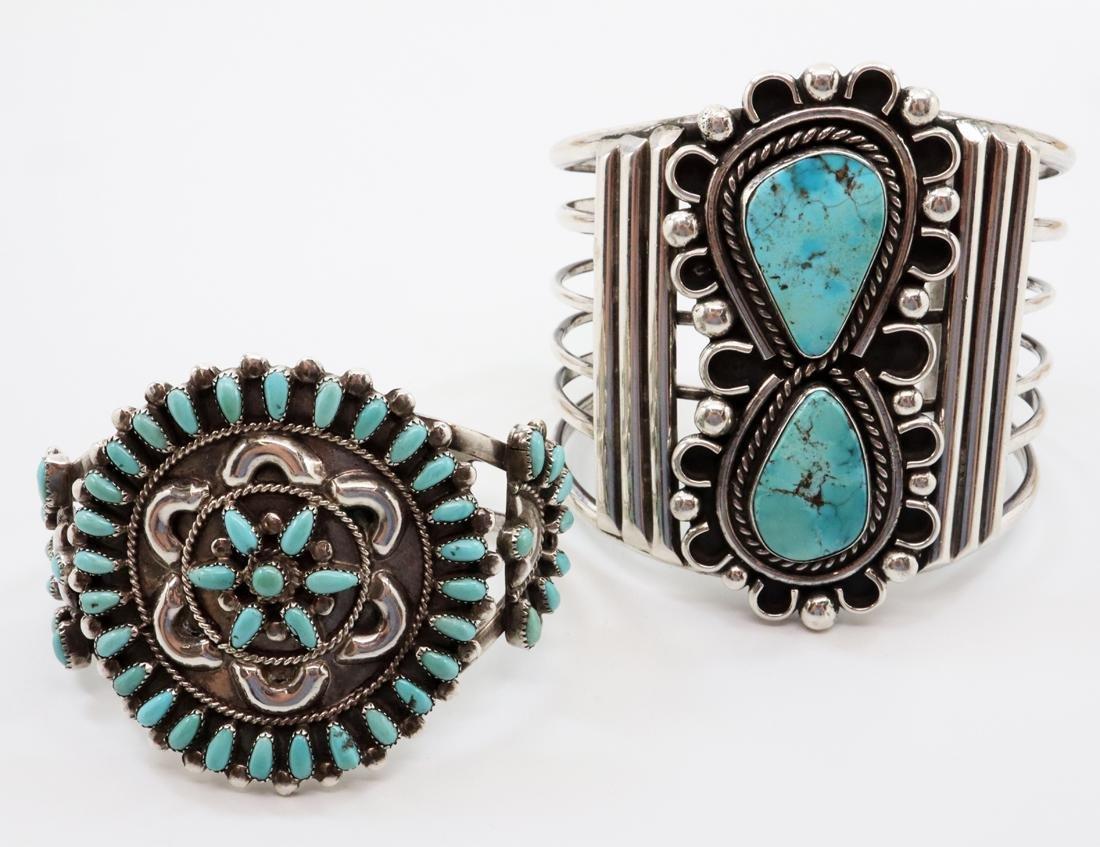 2 American Southwest Cuff Bracelets