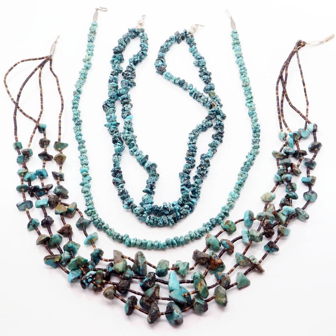 3 Navajo Beaded Necklaces
