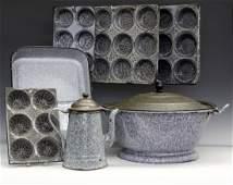 7 pcs of Graniteware