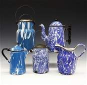 5 pcs of Blue & White Graniteware