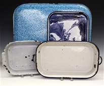 4 pcs of Blue & White Graniteware