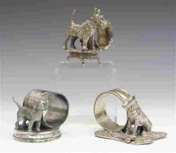 3 Silver plate Napkin Rings