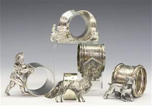 5 Silver Plate Napkin Rings