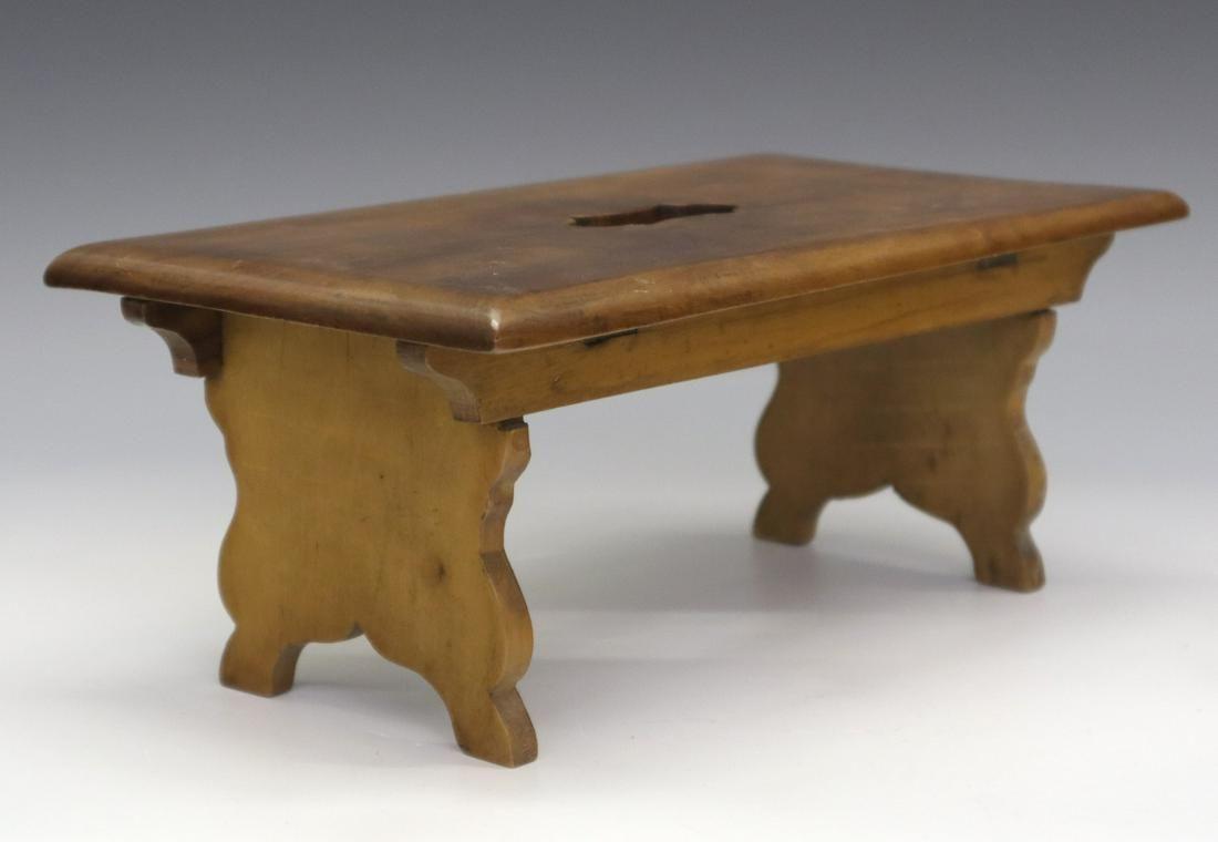 Folding Bavarian foot stool