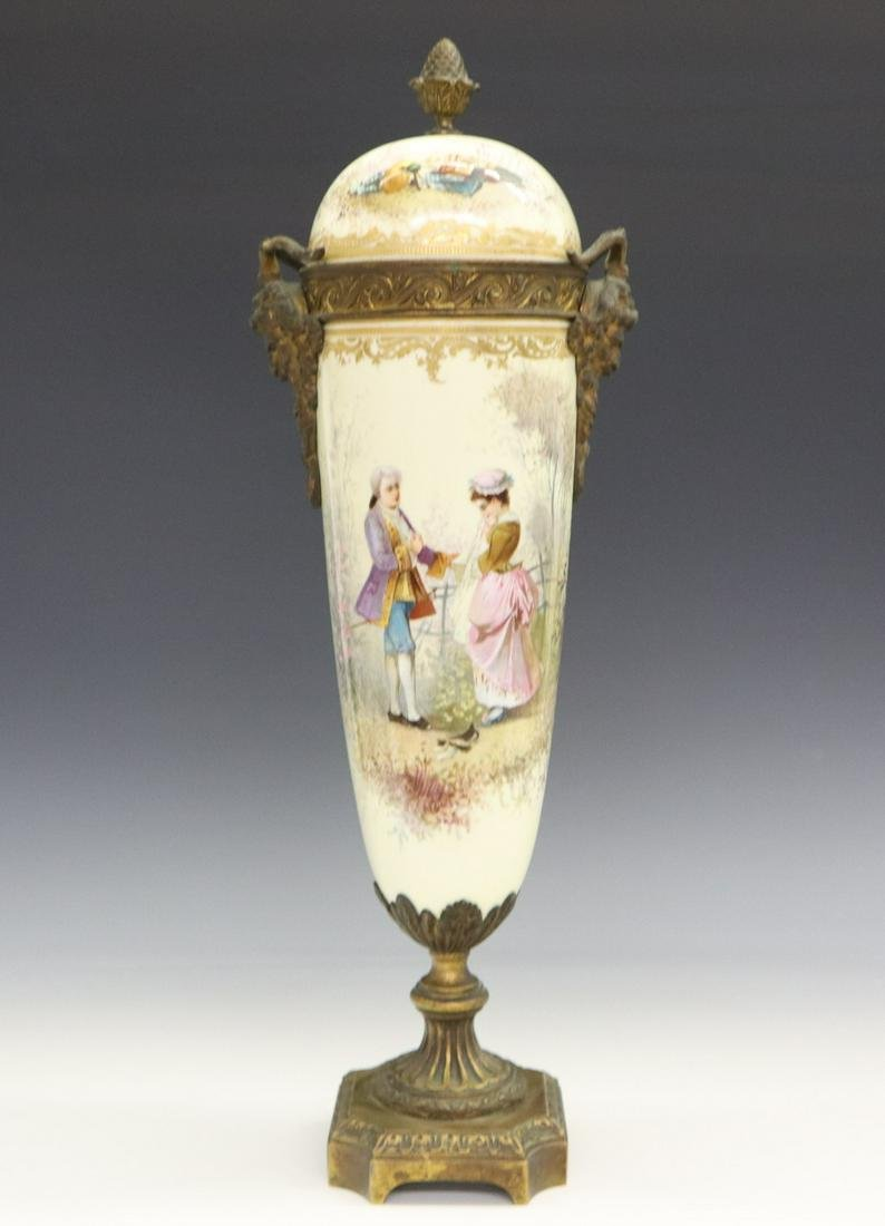 French Sevres Style Covered Urn