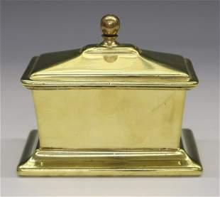 18th C. Dutch Brass Tobacco Box