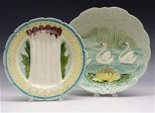 2 Majolica Platters