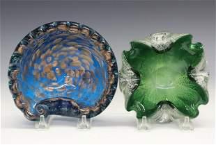 2 Mid Mod Art Glass Bowls