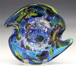 Mid Mod Art Glass Bowl